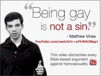 Being gay is not a sin