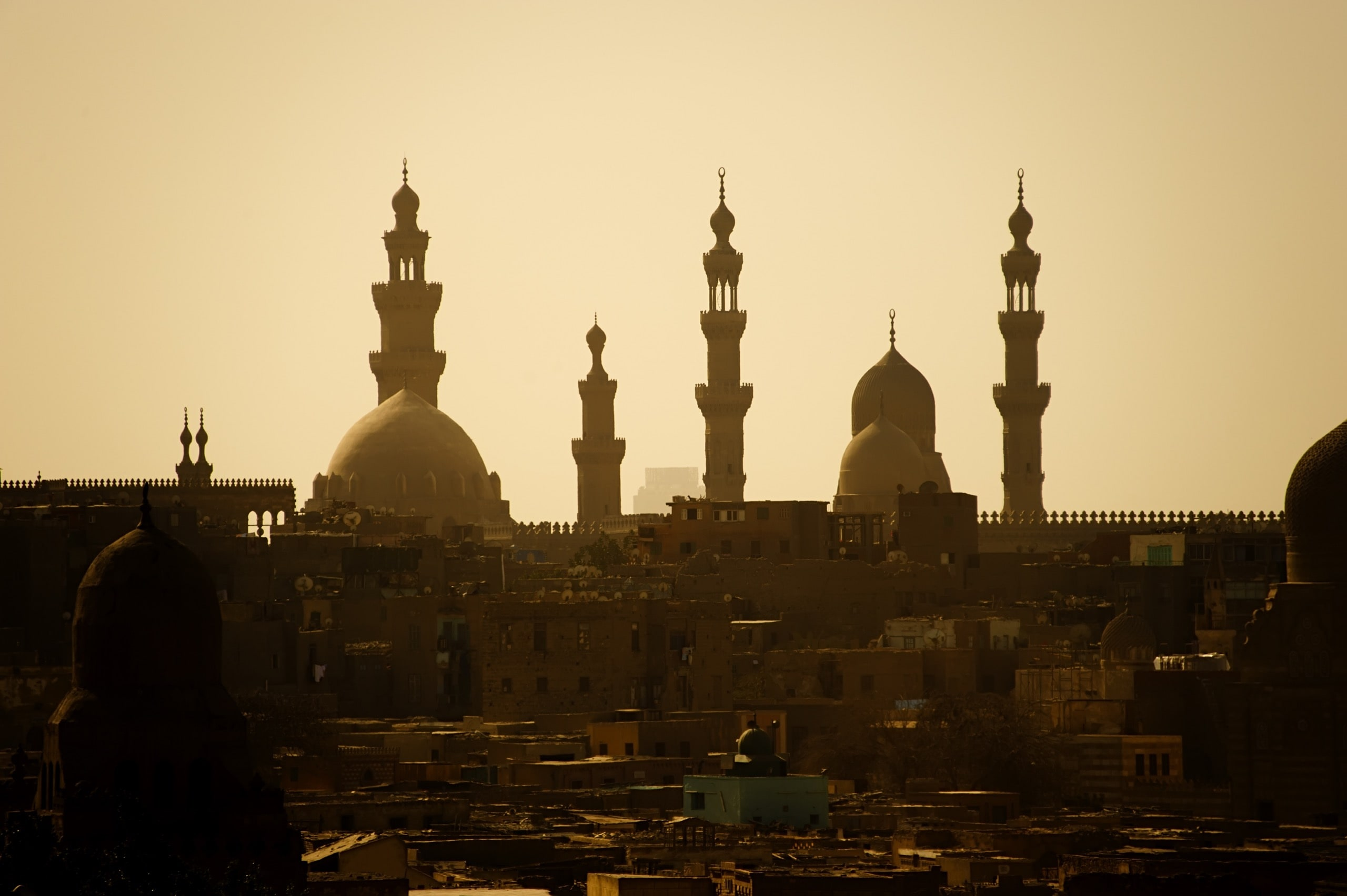 traditional mosque in the urban district of Cairo city