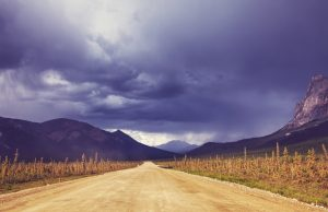 Dalton highway on Alaska