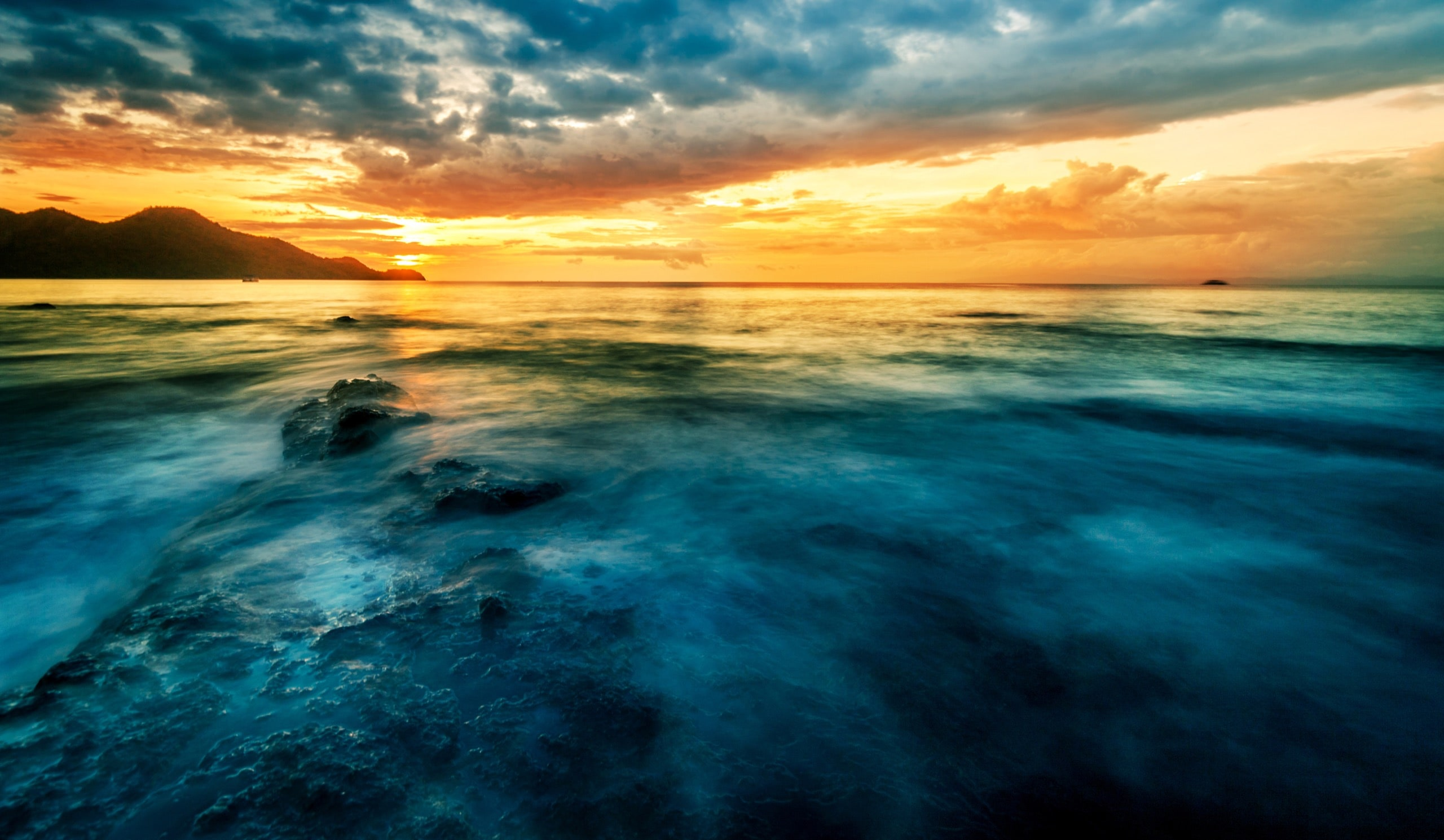 Pacific Sunset. Guanacaste beach, Costa Rica. Travel concept