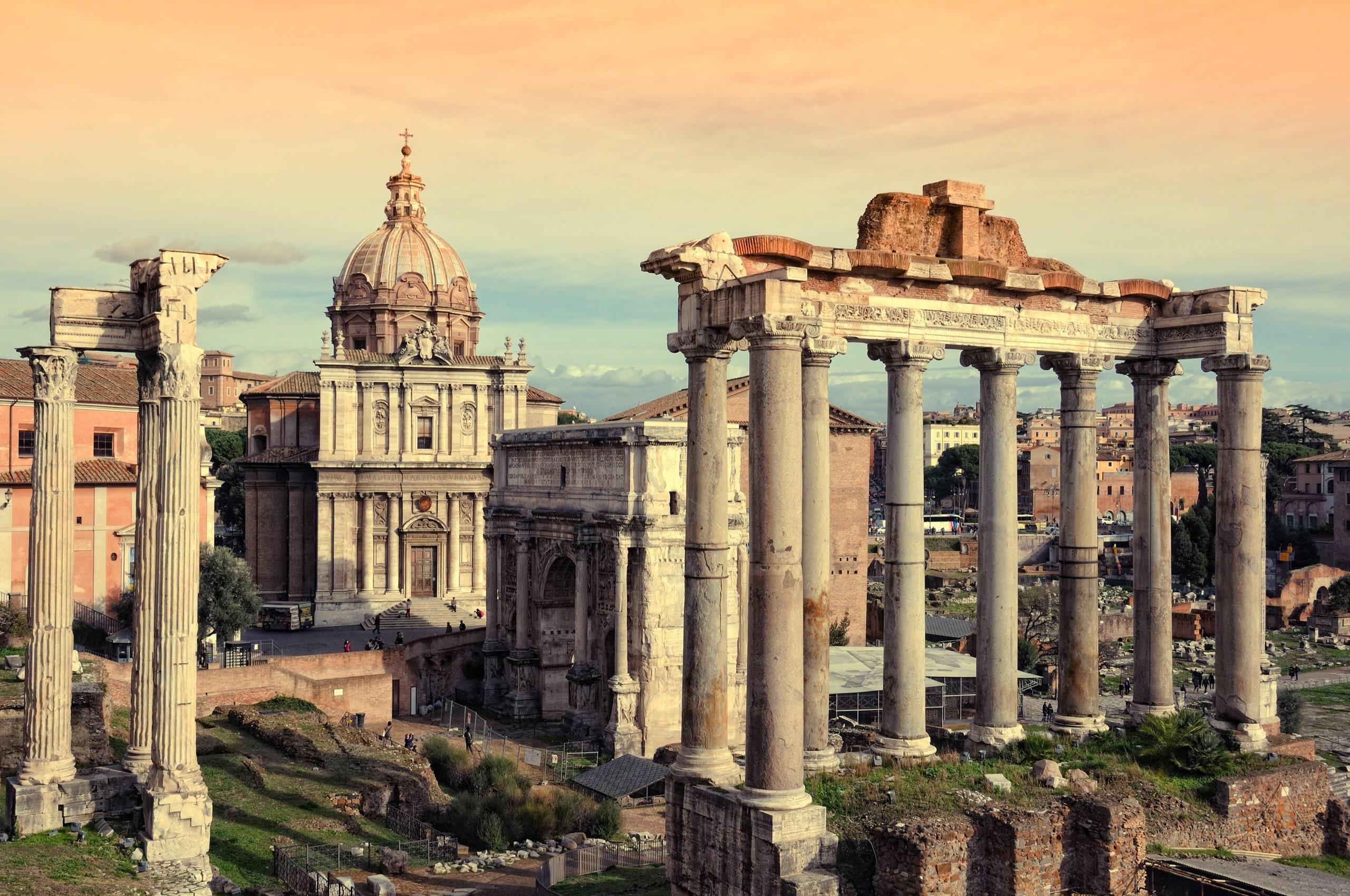 Roman ruins in Rome, Fori Imperiali