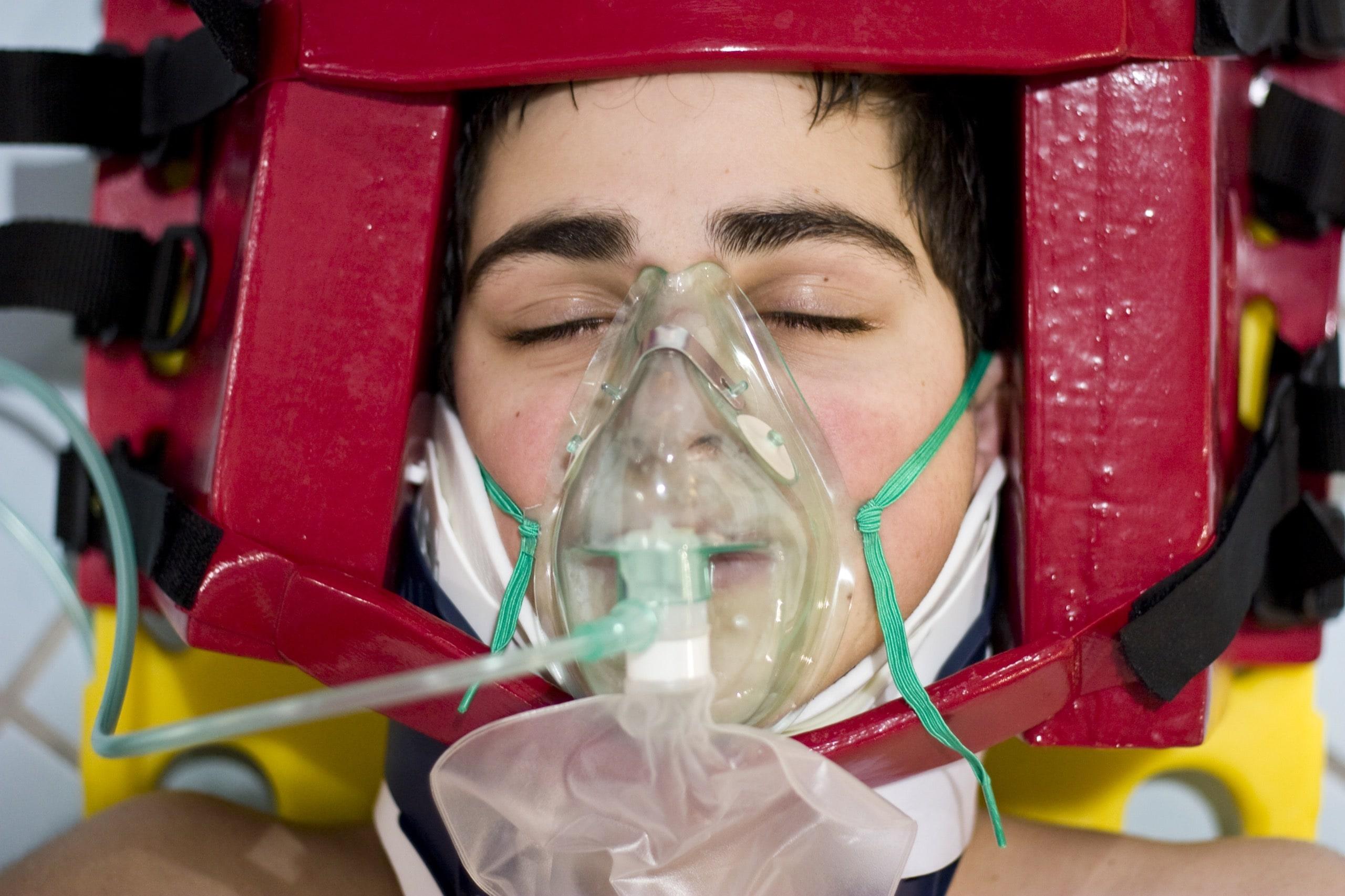 portrait teen oxygen first aid