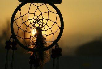 Sunset Through Dream Catcher